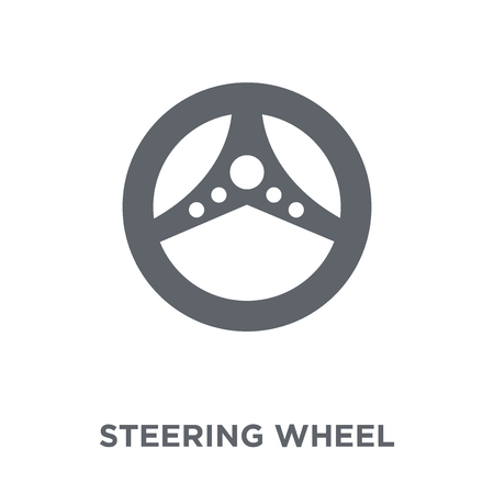Steering wheel icon. Steering wheel design concept from Entertainment collection. Simple element vector illustration on white background. Stock Vector - 112061646