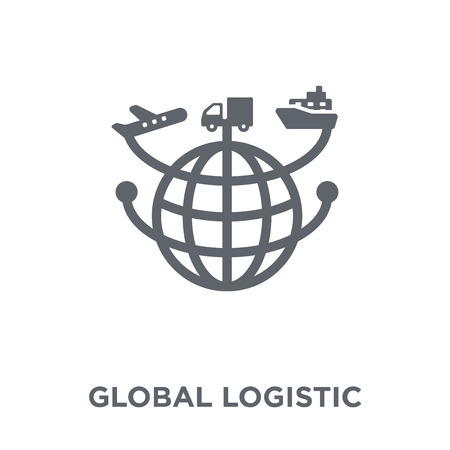 Global Logistic icon. Global Logistic design concept from Delivery and logistic collection. Simple element vector illustration on white background.  イラスト・ベクター素材