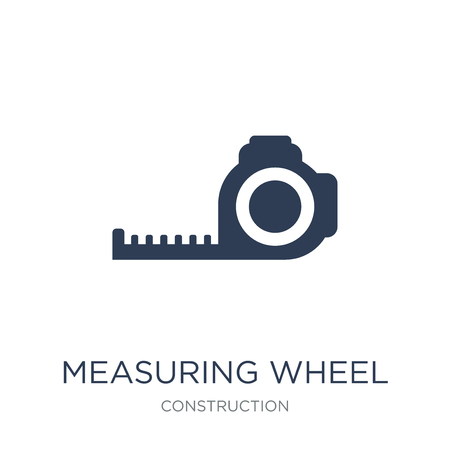 Measuring wheel icon. Trendy flat vector Measuring wheel icon on white background from Construction collection, vector illustration can be use for web and mobile, eps10