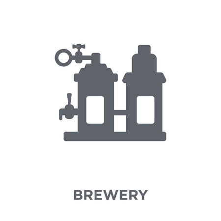 Brewery icon. Brewery design concept from Drinks collection. Simple element vector illustration on white background.