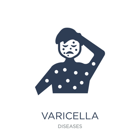 Varicella icon. Trendy flat vector Varicella icon on white background from Diseases collection, vector illustration can be use for web and mobile, eps10