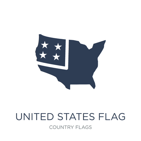 United States flag icon. Trendy flat vector United States flag icon on white background from Country Flags collection, vector illustration can be use for web and mobile, eps10