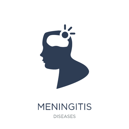 Meningitis icon. Trendy flat vector Meningitis icon on white background from Diseases collection, vector illustration can be use for web and mobile, eps10