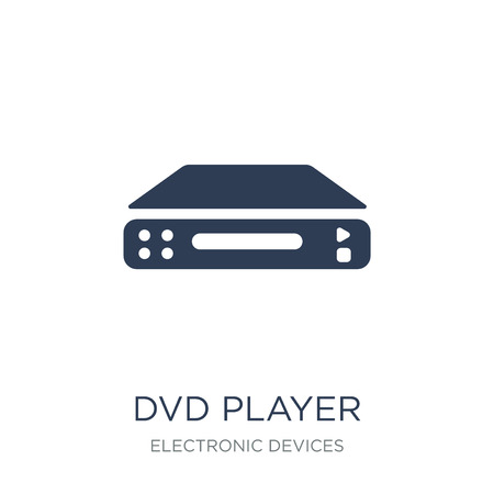 DVD Player icon. Trendy flat vector DVD Player icon on white background from Electronic devices collection, vector illustration can be use for web and mobile, eps10