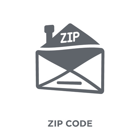 Zip code icon. Zip code design concept from Delivery and logistic collection. Simple element vector illustration on white background.