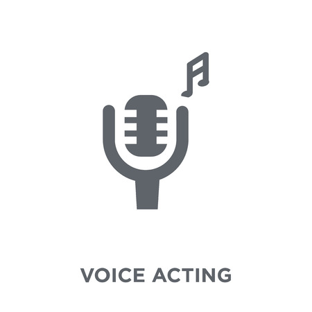 voice acting icon. voice acting design concept from Entertainment collection. Simple element vector illustration on white background. Çizim