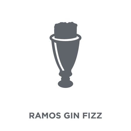 Ramos Gin Fizz icon. Ramos Gin Fizz design concept from Drinks collection. Simple element vector illustration on white background.