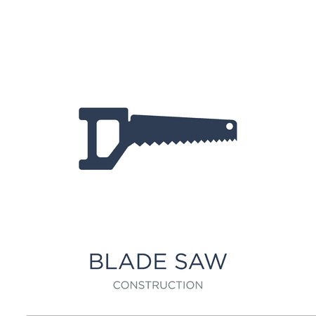 blade saw icon. Trendy flat vector blade saw icon on white background from Construction collection, vector illustration can be use for web and mobile, eps10