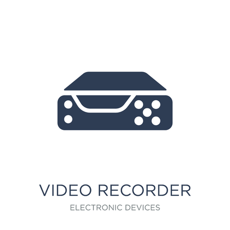 Video recorder icon. Trendy flat vector Video recorder icon on white background from Electronic devices collection, vector illustration can be use for web and mobile, eps10 Illustration