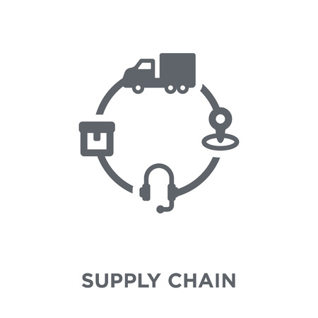 Supply chain icon. Supply chain design concept from Delivery and logistic collection. Simple element vector illustration on white background. Çizim