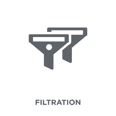Filtration icon. Filtration design concept from Drinks collection. Simple element vector illustration on white background.