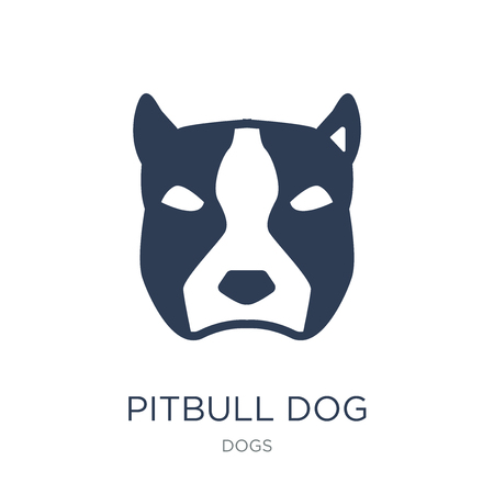 Pitbull dog icon. Trendy flat vector Pitbull dog icon on white background from dogs collection, vector illustration can be use for web and mobile, eps10 Illustration