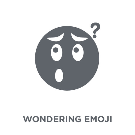 Wondering emoji icon. Wondering emoji design concept from Emoji collection. Simple element vector illustration on white background.