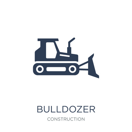 Bulldozer icon. Trendy flat vector Bulldozer icon on white background from Construction collection, vector illustration can be use for web and mobile, eps10