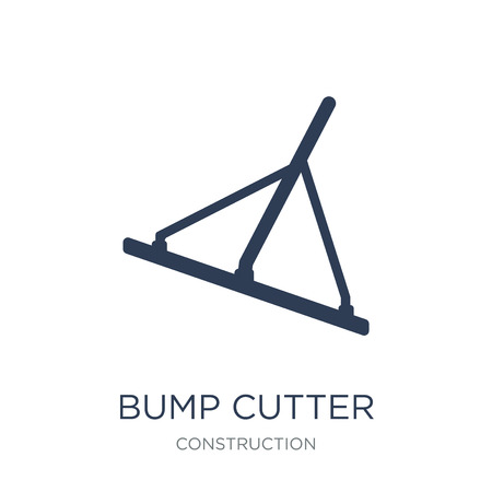 Bump cutter icon. Trendy flat vector Bump cutter icon on white background from Construction collection, vector illustration can be use for web and mobile, eps10