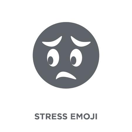 Stress emoji icon. Stress emoji design concept from Emoji collection. Simple element vector illustration on white background.