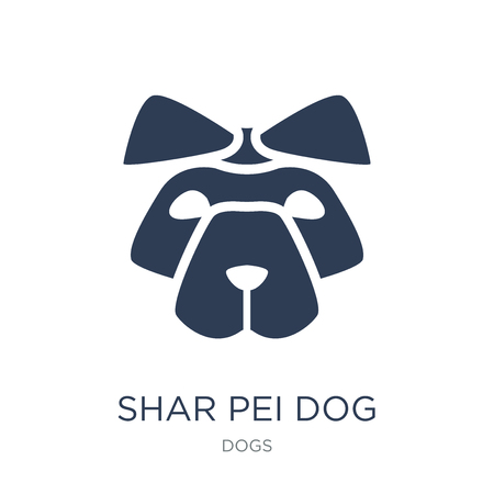 Shar Pei dog icon. Trendy flat vector Shar Pei dog icon on white background from dogs collection, vector illustration can be use for web and mobile, eps10 Illustration