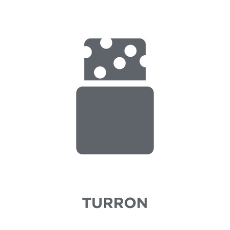 Turron icon. Turron design concept from Spanish Food collection. Simple element vector illustration on white background.