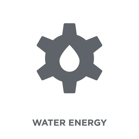 Water energy icon. Water energy design concept from Ecology collection. Simple element vector illustration on white background. Stock Illustratie