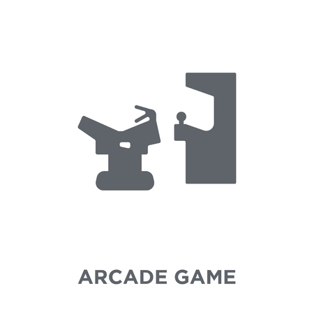 Arcade game icon. Arcade game design concept from Entertainment collection. Simple element vector illustration on white background.