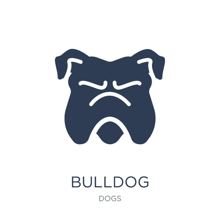Bulldog icon. Trendy flat vector Bulldog icon on white background from dogs collection, vector illustration can be use for web and mobile, eps10