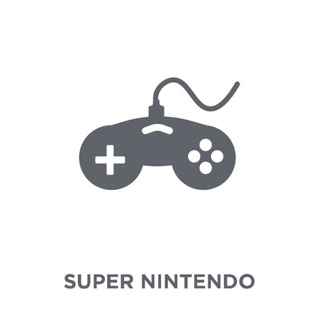 Super nintendo icon. Super nintendo design concept from Arcade collection. Simple element vector illustration on white background.