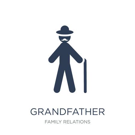 icono de abuelo. Icono de abuelo de moda vector plano sobre fondo blanco de la colección de relaciones familiares, Ilustración de vectores se puede utilizar para web y móvil, eps10 Ilustración de vector