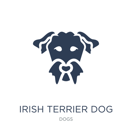 Irish Terrier dog icon. Trendy flat vector Irish Terrier dog icon on white background from dogs collection, vector illustration can be use for web and mobile, eps10