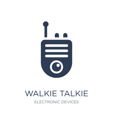 Walkie talkie icon. Trendy flat vector Walkie talkie icon on white background from Electronic devices collection, vector illustration can be use for web and mobile, eps10