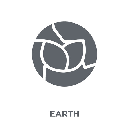 Green earth icon. Green earth design concept from Ecology collection. Simple element vector illustration on white background.