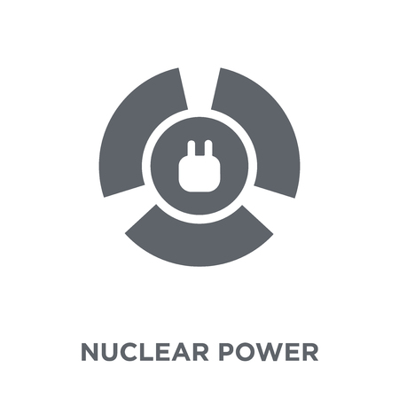 Nuclear power icon. Nuclear power design concept from Ecology collection. Simple element vector illustration on white background. Foto de archivo - 112062323
