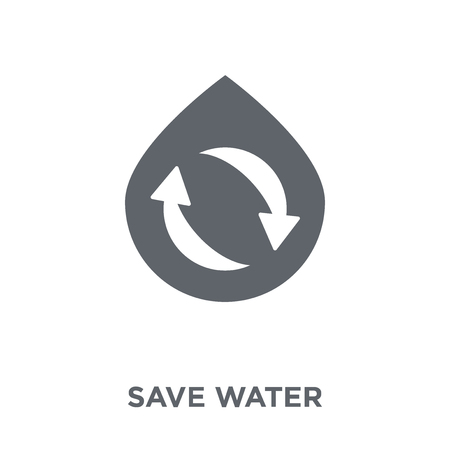 Save water icon. Save water design concept from Ecology collection. Simple element vector illustration on white background.