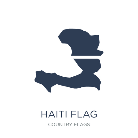 Haiti flag icon. Trendy flat vector Haiti flag icon on white background from Country Flags collection, vector illustration can be use for web and mobile, eps10 Illustration