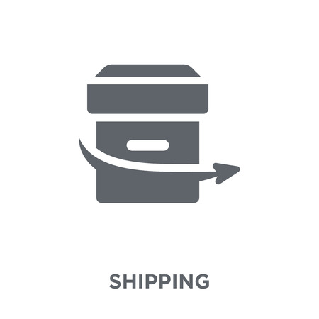 Shipping icon. Shipping design concept from Delivery and logistic collection. Simple element vector illustration on white background.