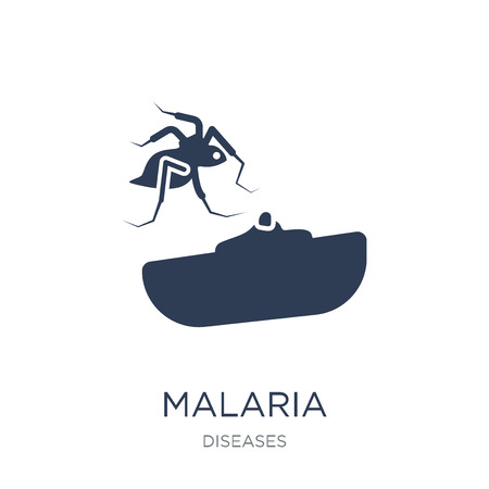 Malaria icon. Trendy flat vector Malaria icon on white background from Diseases collection, vector illustration can be use for web and mobile, eps10