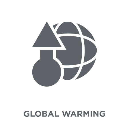 Global warming icon. Global warming design concept from Ecology collection. Simple element vector illustration on white background.