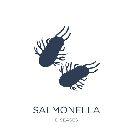 Salmonella icon. Trendy flat vector Salmonella icon on white background from Diseases collection, vector illustration can be use for web and mobile, eps10