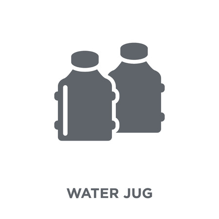 Water jug icon. Water jug design concept from Drinks collection. Simple element vector illustration on white background. Standard-Bild - 112063450
