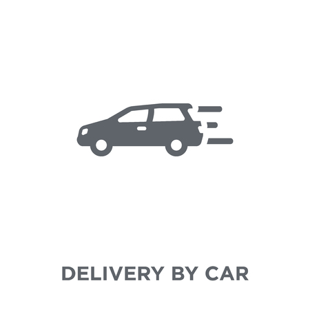 Delivery by car icon. Delivery by car design concept from Delivery and logistic collection. Simple element vector illustration on white background.