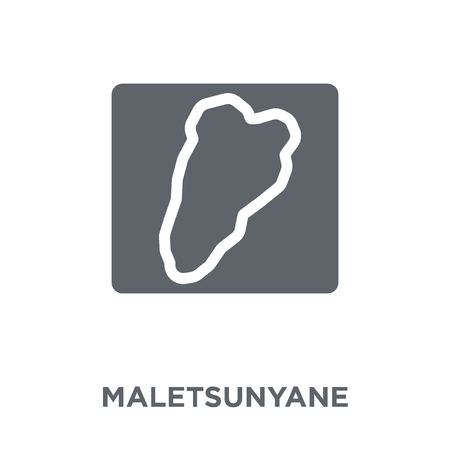 Maletsunyane icon. Maletsunyane design concept from Africa Symbols collection. Simple element vector illustration on white background.