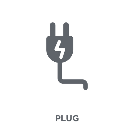Plug icon. Plug design concept from Electronic devices collection. Simple element vector illustration on white background. Фото со стока - 112063735