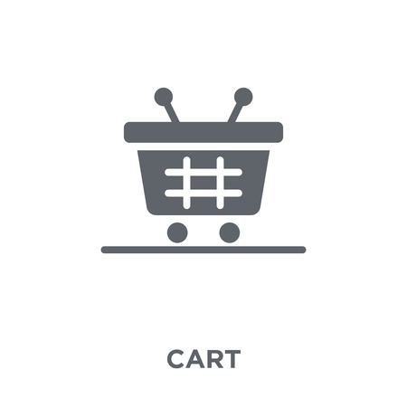 Cart icon. Cart design concept from  collection. Simple element vector illustration on white background. Archivio Fotografico - 112063451