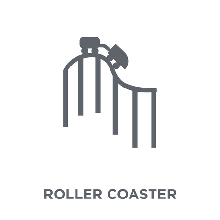 Roller coaster icon. Roller coaster design concept from Entertainment collection. Simple element vector illustration on white background.