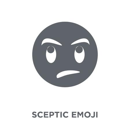 Sceptic emoji icon. Sceptic emoji design concept from Emoji collection. Simple element vector illustration on white background. Foto de archivo - 112063562