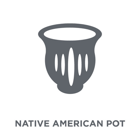 Native American Pot icon. Native American Pot design concept from American Indigenous Signals collection. Simple element vector illustration on white background.