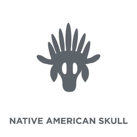 Native American Skull icon. Native American Skull design concept from American Indigenous Signals collection. Simple element vector illustration on white background. Illustration