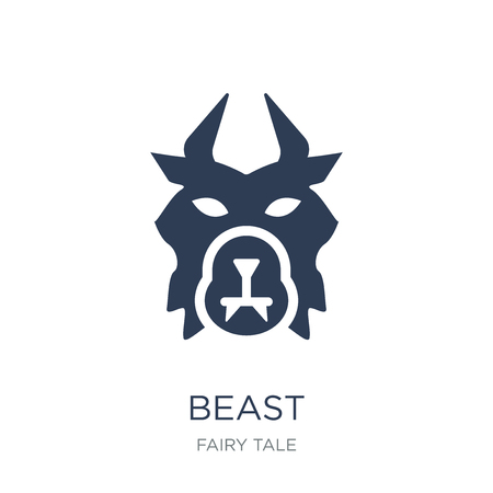 beast icon. Trendy flat vector beast icon on white background from Fairy Tale collection, vector illustration can be use for web and mobile, eps10 Illustration
