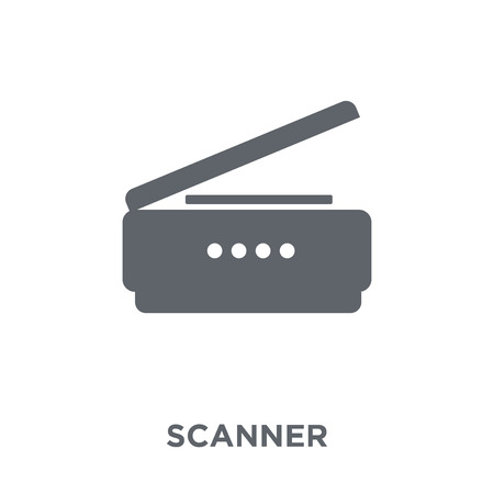 Scanner icon. Scanner design concept from Electronic devices collection. Simple element vector illustration on white background.