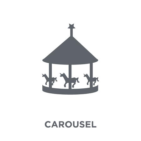 Carousel icon. Carousel design concept from Entertainment collection. Simple element vector illustration on white background. Illustration