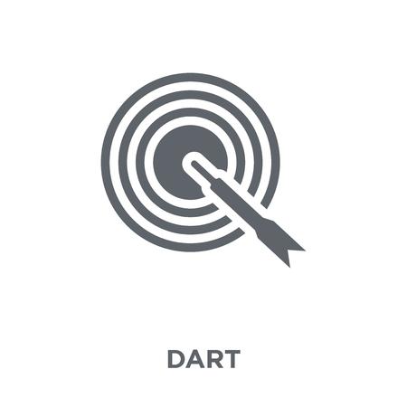 Dart-Symbol. Dart-Design-Konzept aus der Arcade-Kollektion. Einfache Elementvektorillustration auf weißem Hintergrund.